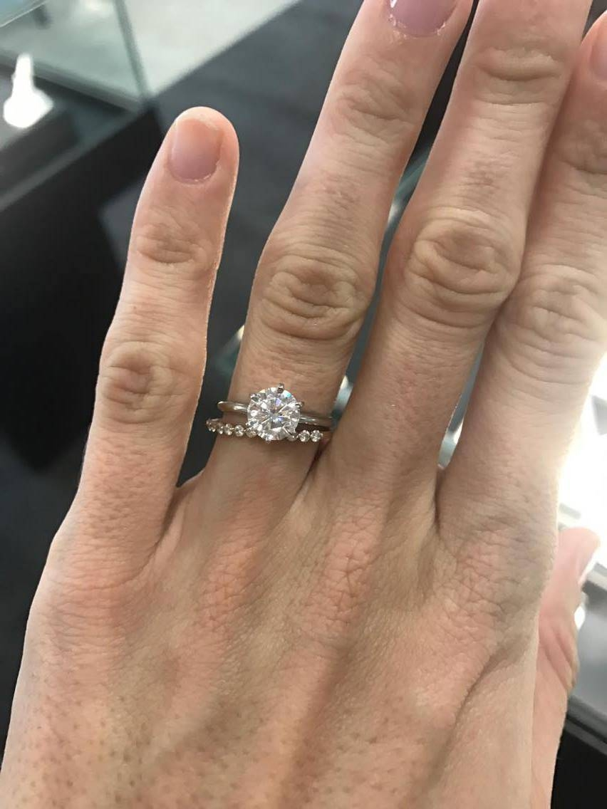 Opinions On 1.5Mm Paved Band In Platinum? – Weddingbee Regarding 1.5 Mm Pave Engagement Rings (Gallery 9 of 15)