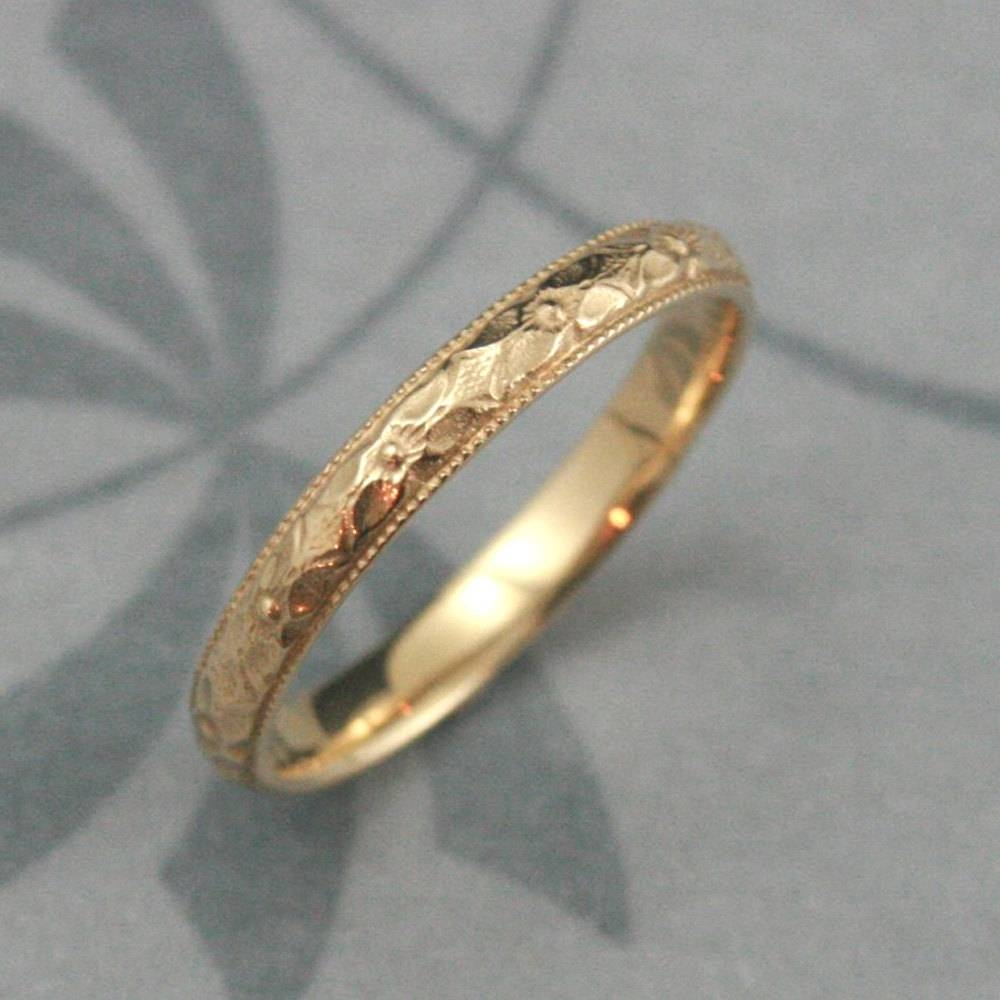 Orange Blossom Ring14K Gold Renaissance Bandwomen's With Orange Blossom Wedding Bands (View 10 of 15)