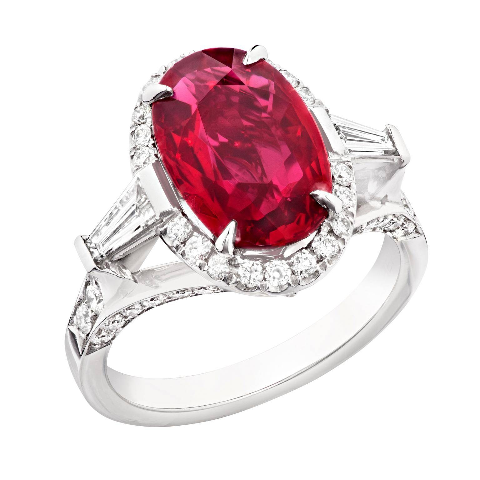 Oval Ruby Engagement Ring | Fabergé | The Jewellery Editor With Ruby Engagement Rings (View 5 of 15)
