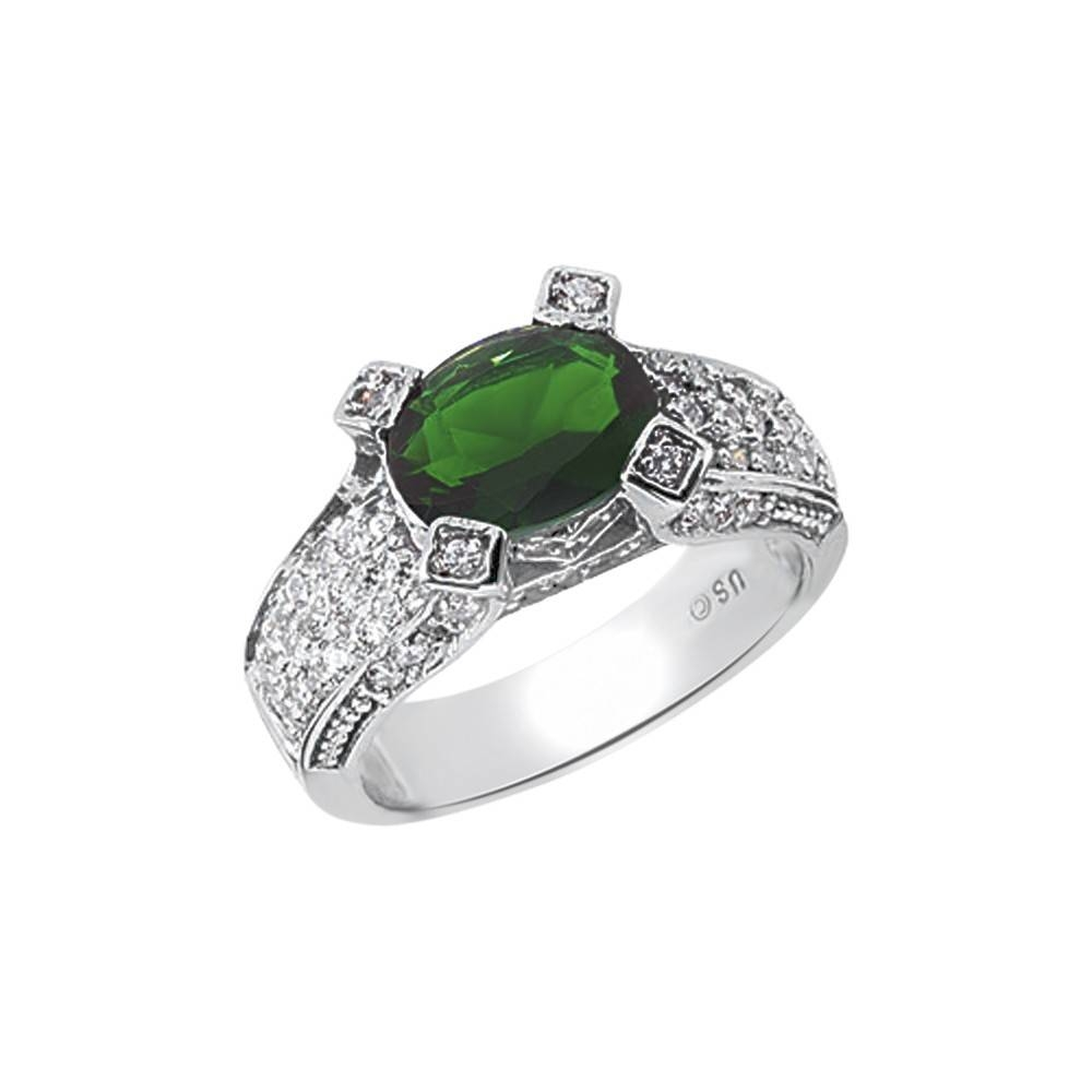 Oval Shape Emerald With  (View 8 of 15)