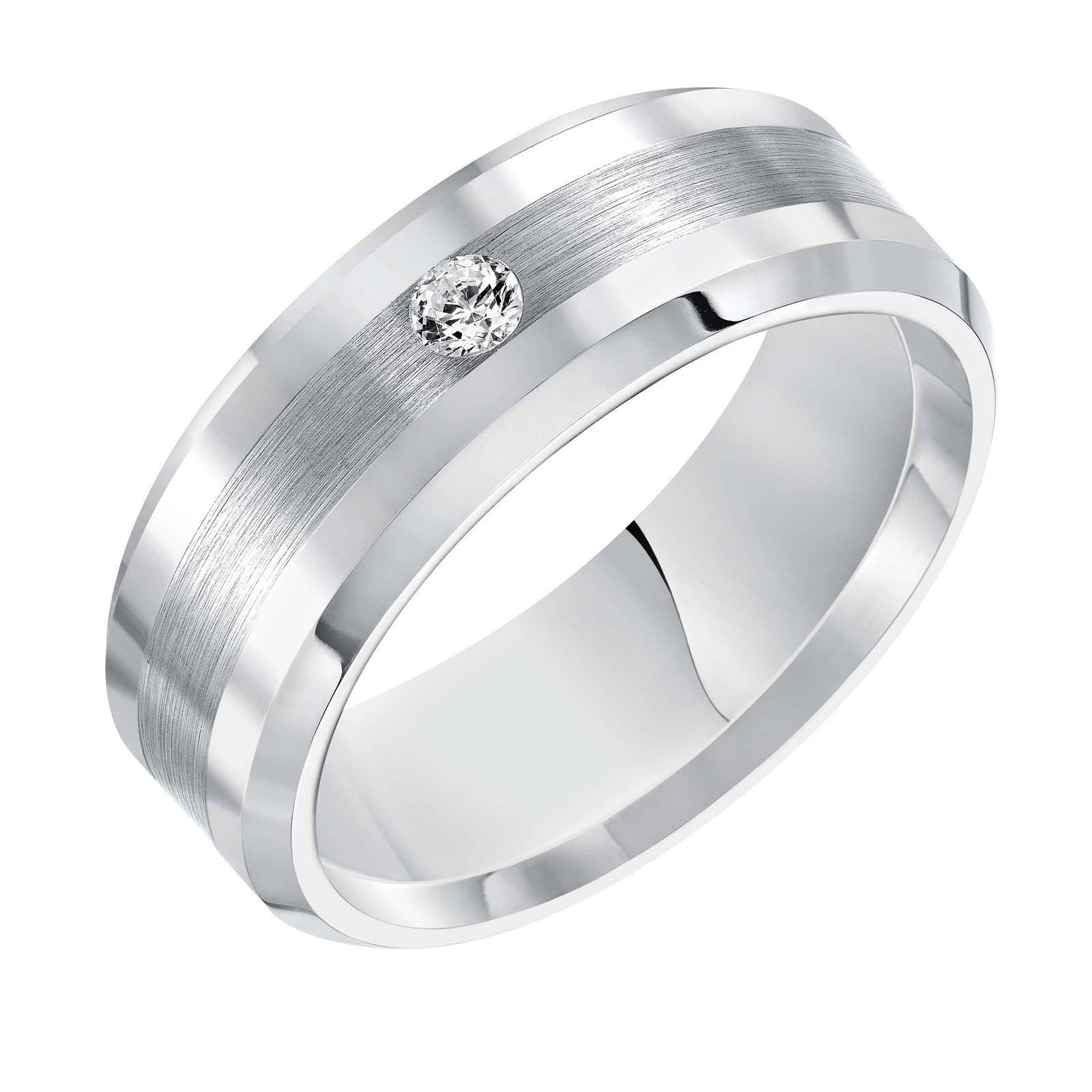 Overstock Mens Wedding Rings Fresh Titanium And Diamond Mens For Overstock Wedding Bands (View 8 of 15)
