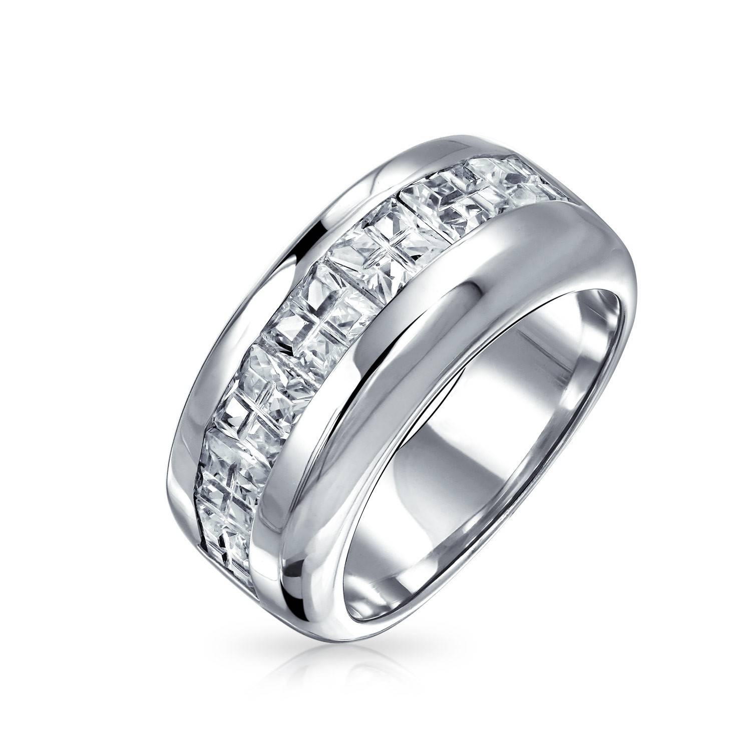 Overstock Mens Wedding Rings Luxury Sterling Silver Wedding Bands In Overstock Wedding Bands (View 7 of 15)