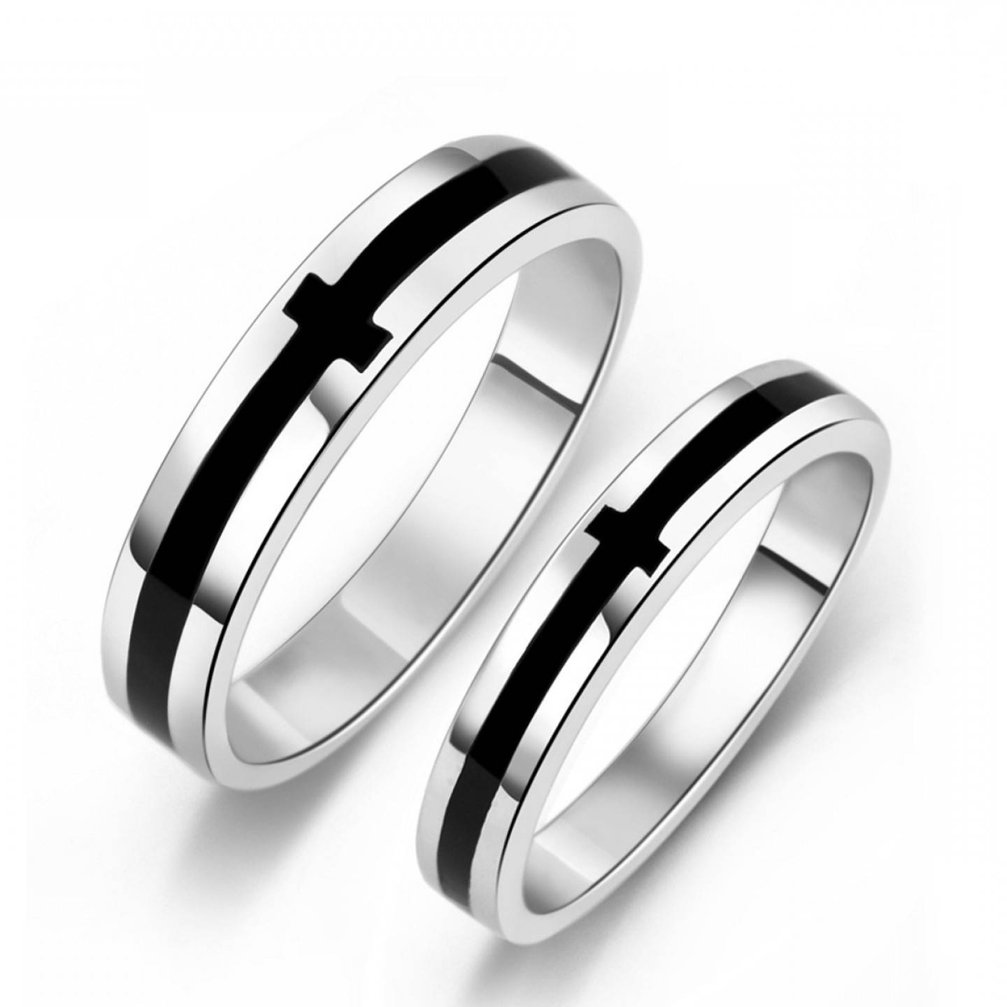 P Black Onyx S Sterling Silver Mens Ladies Couple Promise Ring Regarding Black Onyx Wedding Bands (View 10 of 15)