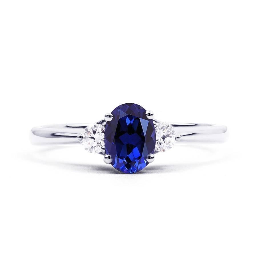 Paragon Blue Sapphire Engagement Ring – Diamond Boutique ® Regarding Blue Sapphire Wedding Rings (View 9 of 15)
