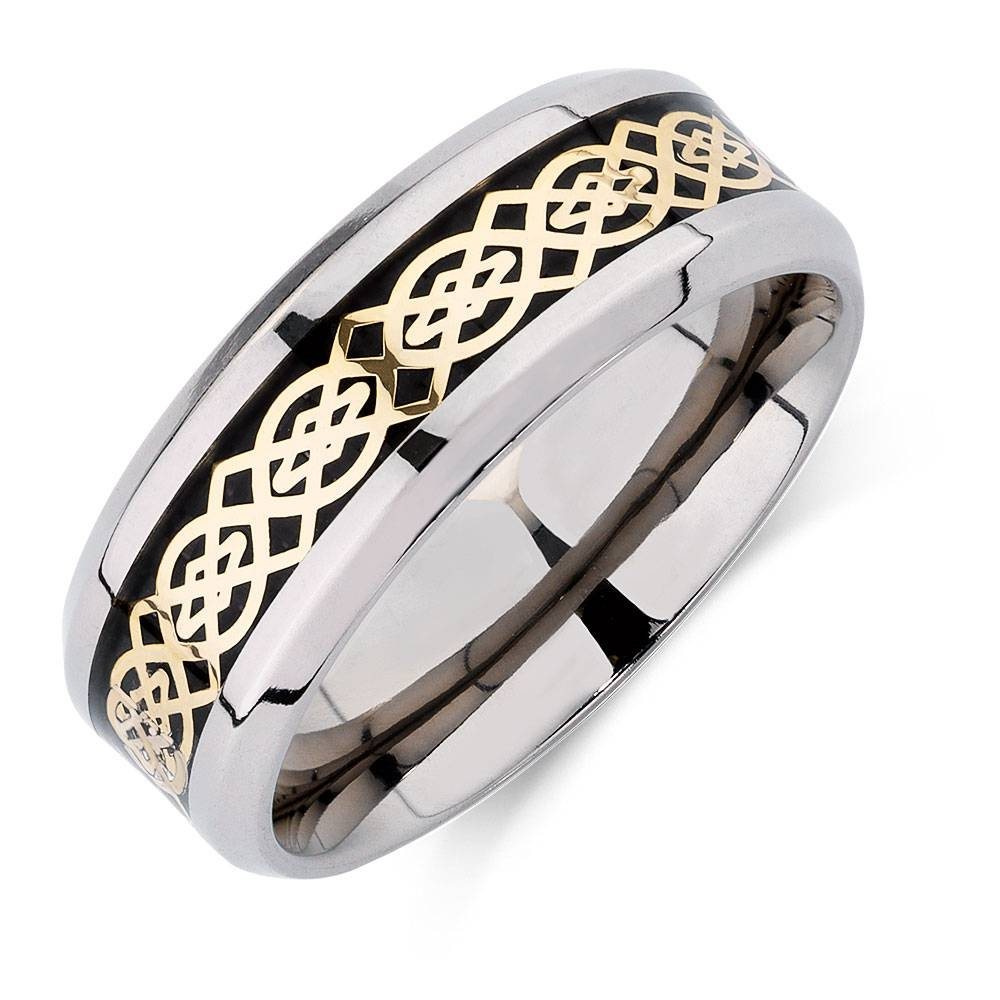 Patterned Ring In Carbon Fibre & Titanium For Michael Hill Mens Wedding Bands (View 5 of 15)