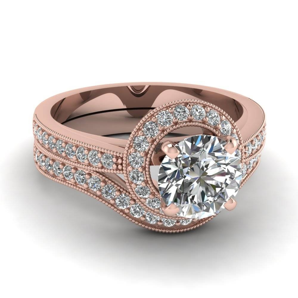 Pave Wedding Bands For Women | Fascinating Diamonds Within Rose Gold Wedding Bands Sets (View 4 of 15)