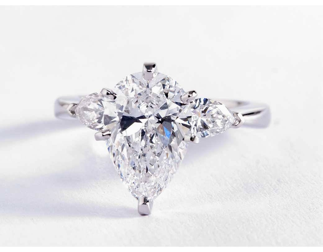 Pear Shaped Diamond For Real Adorable Look | Home Decor Studio Pertaining To Pear Shaped Engagement Rings Diamond Settings (View 12 of 15)