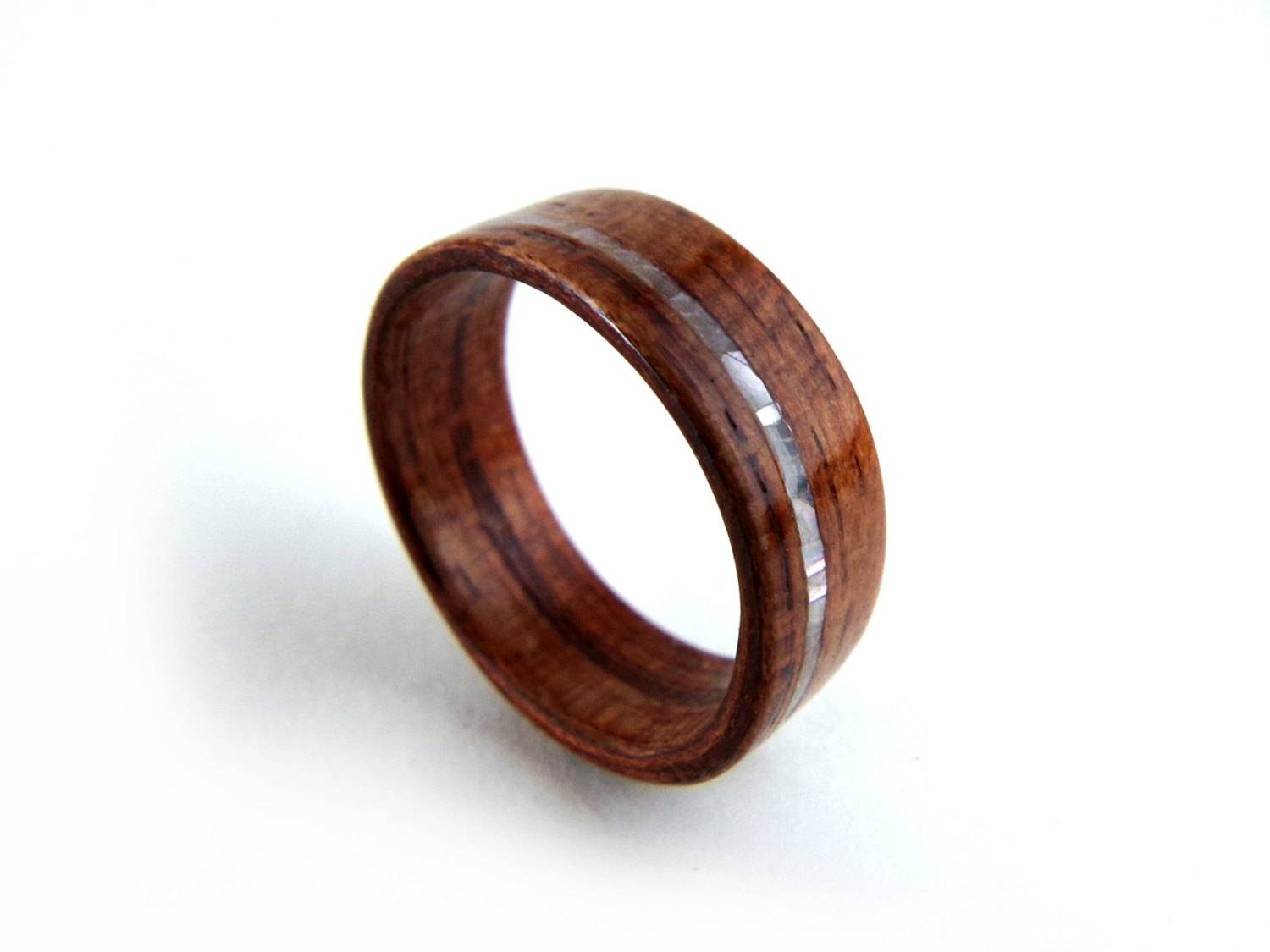 Pearl Wood Ring Mother Of Pearl Wood Ring Inlay Wood Regarding Mother Of Pearl Wedding Bands (View 12 of 15)