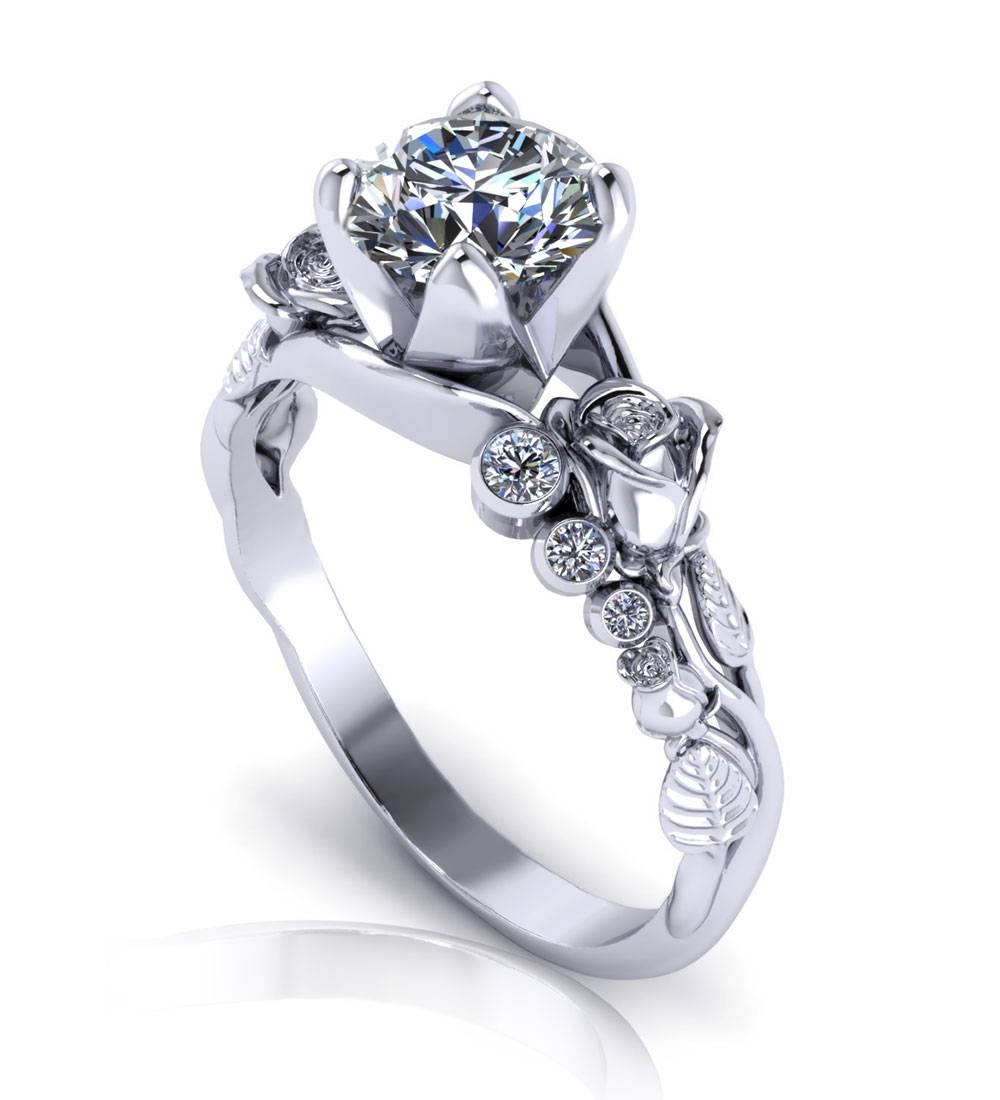 Perfect Unique Diamond Engagement Rings Wedding Jewelry With Rough In Unusual Diamond Wedding Rings (View 12 of 15)