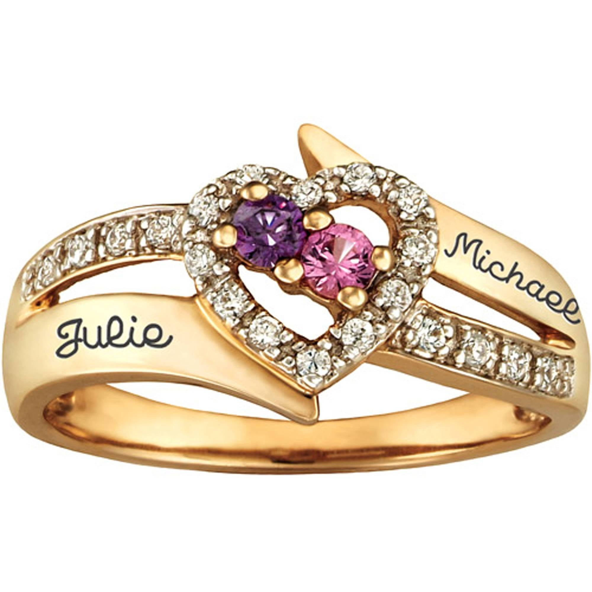 Personalized Keepsake Enchantment Promise Ring With Birthstones In Walmart Keepsake Engagement Rings (View 12 of 15)