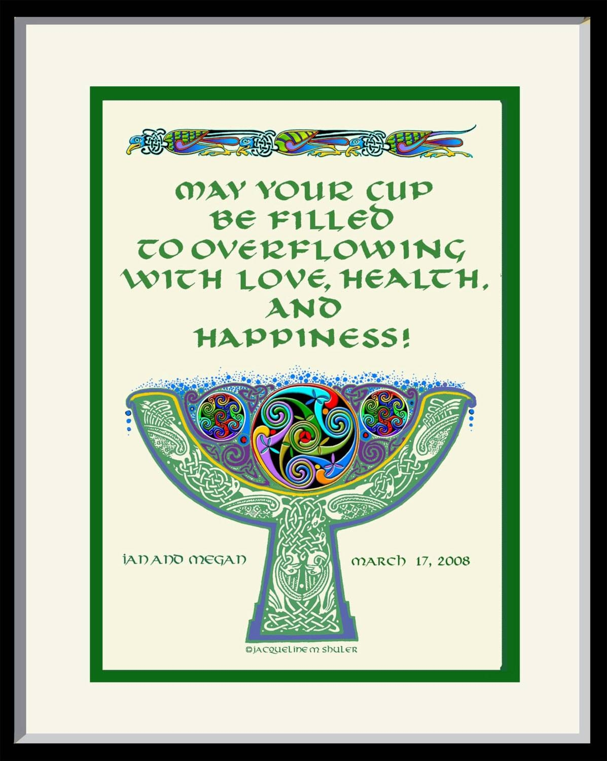 Personalized Wedding Gift Irish Celtic Goblet Authentic 10Th In Irish Engagement Gifts (Gallery 6 of 15)
