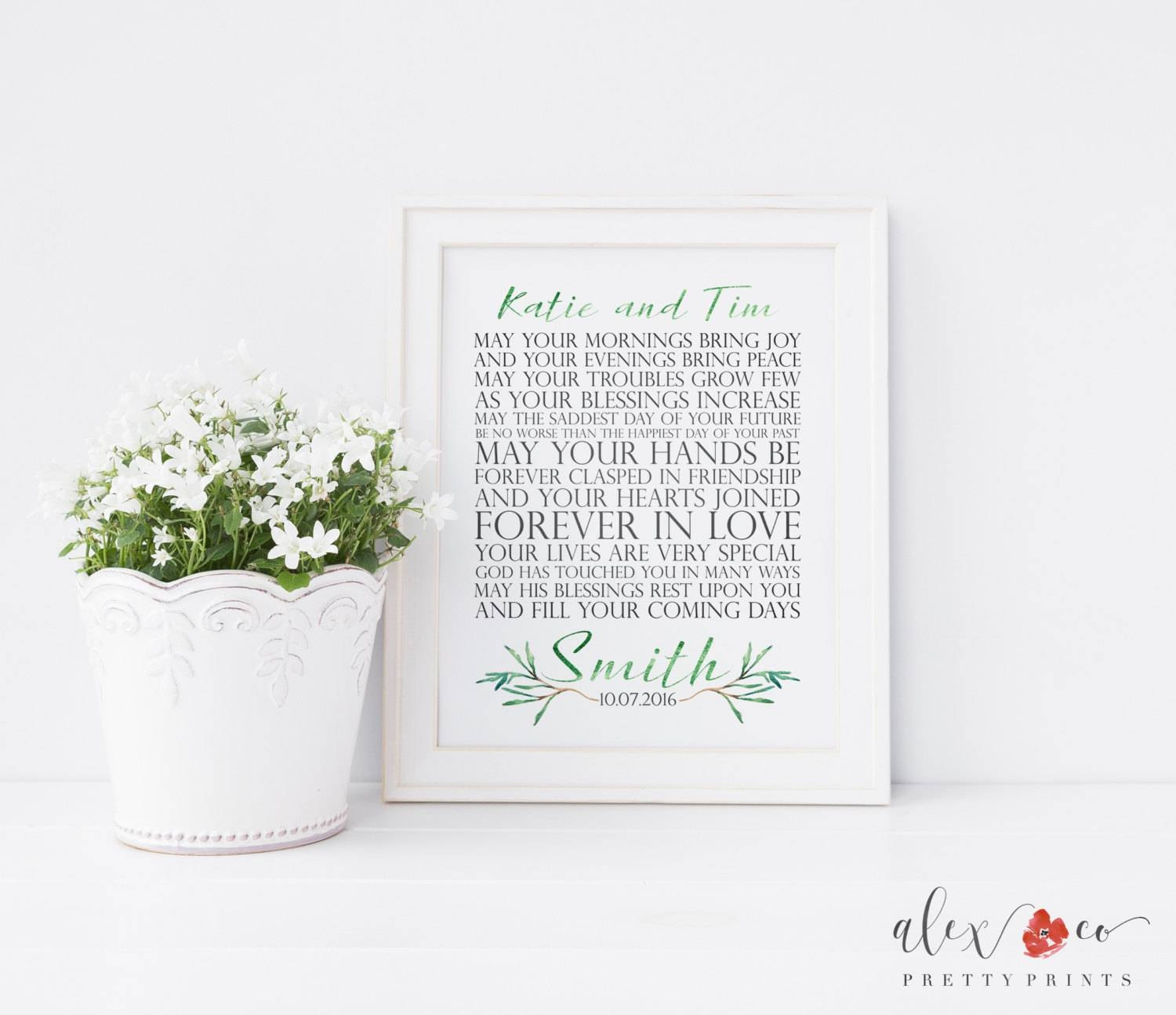 Personalized Wedding Gift. Printable Wedding Gift (View 12 of 15)