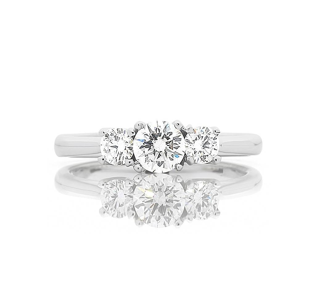 Phoebe Trilogy Diamond Engagement Ring Melbourne – Goddess Within Trilogy Engagement Rings (View 9 of 15)