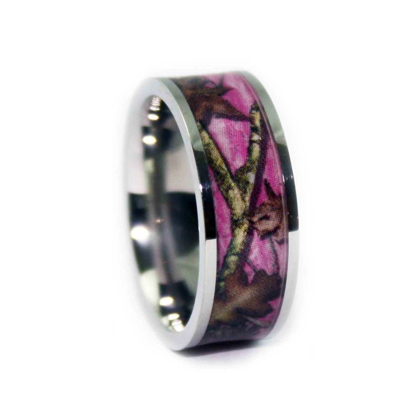 pink camo wedding rings flat titanium camouflage band1 camo regarding camo wedding bands - Pink Camo Wedding Rings For Her