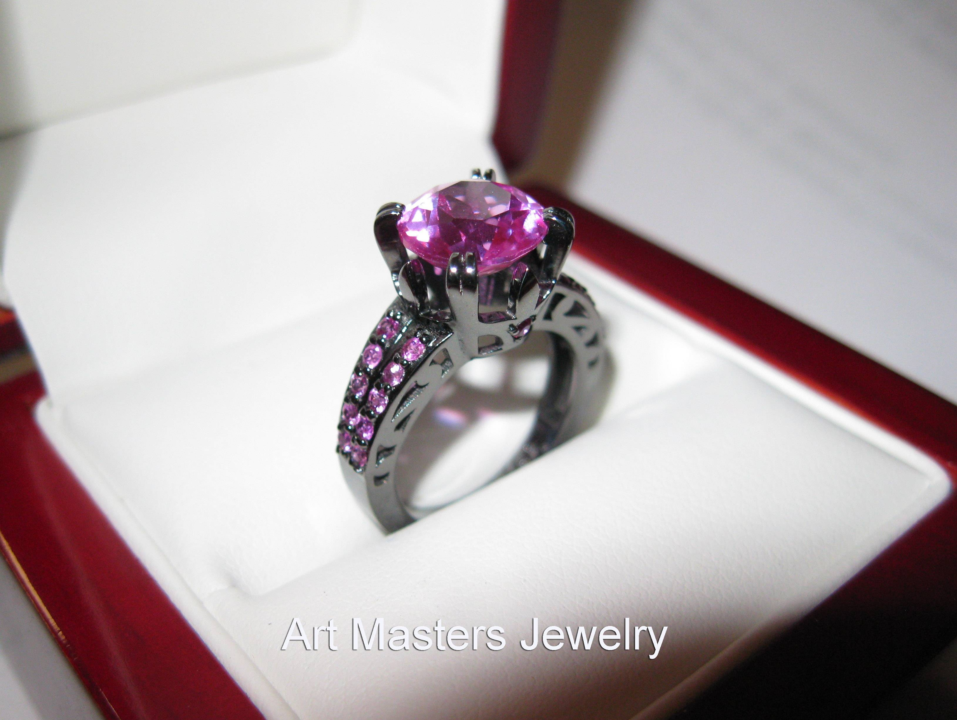 Pink Sapphire Ring – Art Masters Jewelry – Engagement And Wedding For Light Pink Wedding Rings (View 15 of 15)