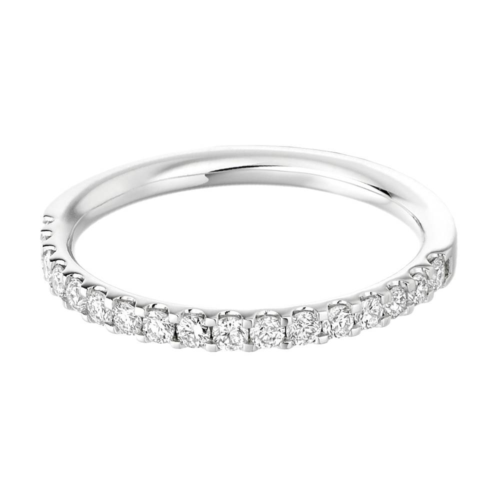 Platinum 17 Stone Half Set Diamond Wedding Ring Het1023 From With Regard To Platinum Diamond Wedding Rings (Gallery 9 of 15)