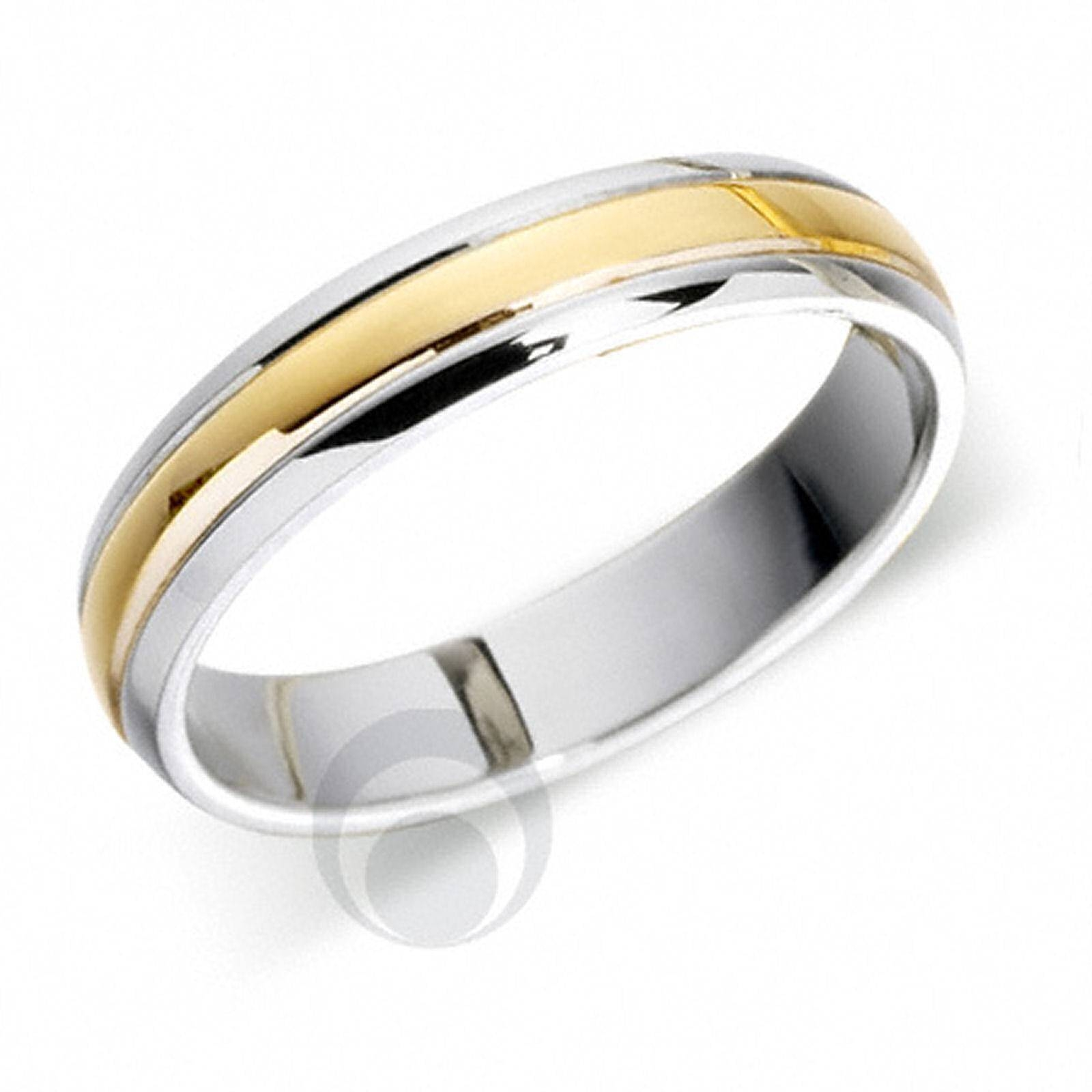 Featured Photo of White And Gold Wedding Rings