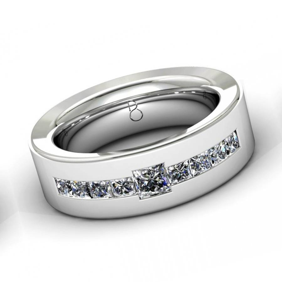 Platinum Diamond Wedding Bands For Men : Masculine And Cool Intended For Costco Wedding Bands (Gallery 103 of 339)