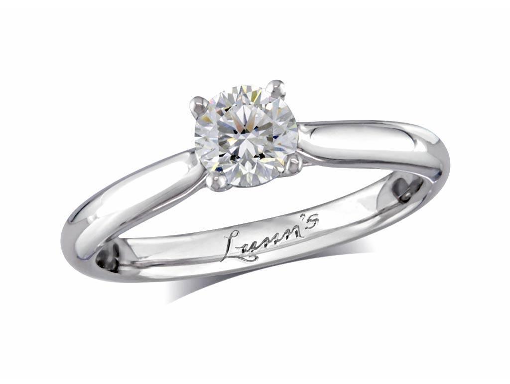 Platinum Engagement Rings | Diamond Engagement Rings | Portfolio For Engagement Rings Belfast (View 13 of 15)