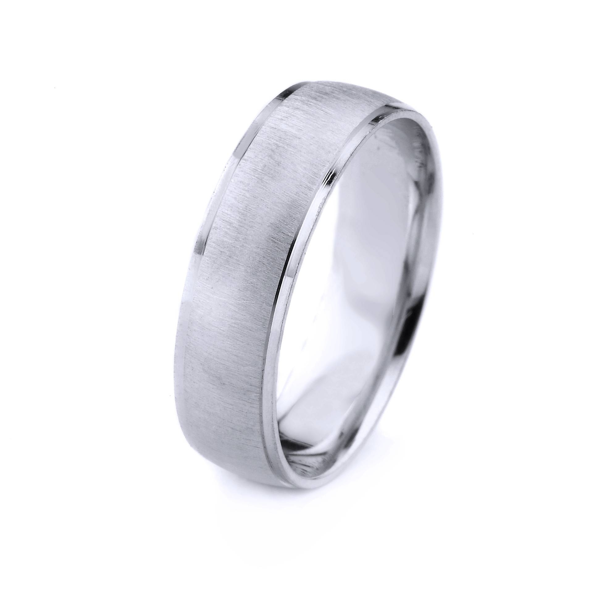 Platinum Mens Wedding Band With Cross Satin Finish And Cut With Regard To Men's Wedding Bands With Crosses (View 14 of 15)
