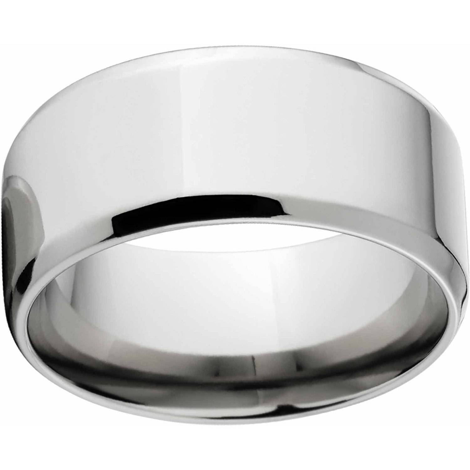 Polished 10Mm Titanium Wedding Band With Comfort Fit Design With Regard To Walmart Men's Wedding Bands (View 15 of 15)