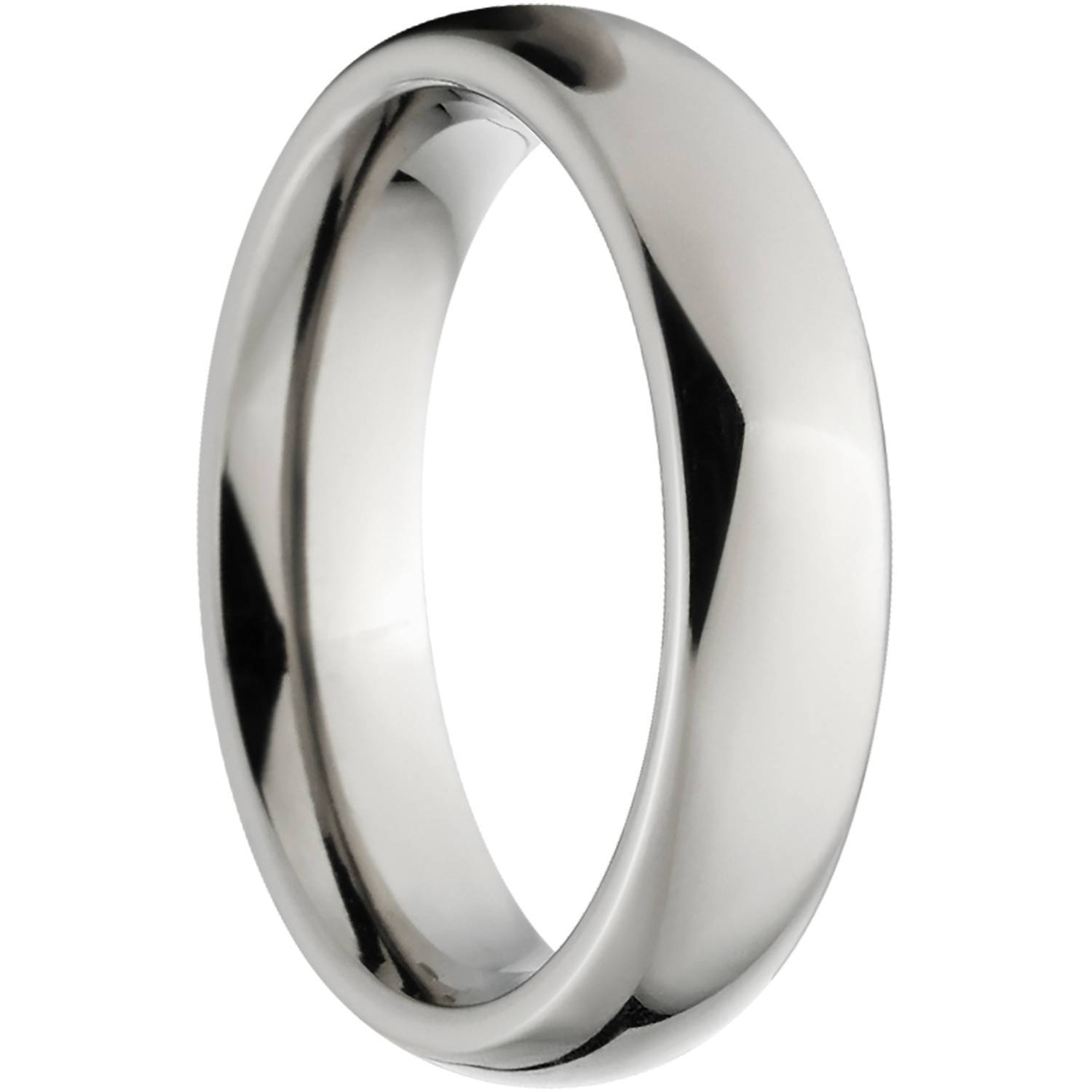 Polished 4Mm Titanium Wedding Band With Comfort Fit Design With Regard To Titanium Wedding Bands (View 8 of 15)
