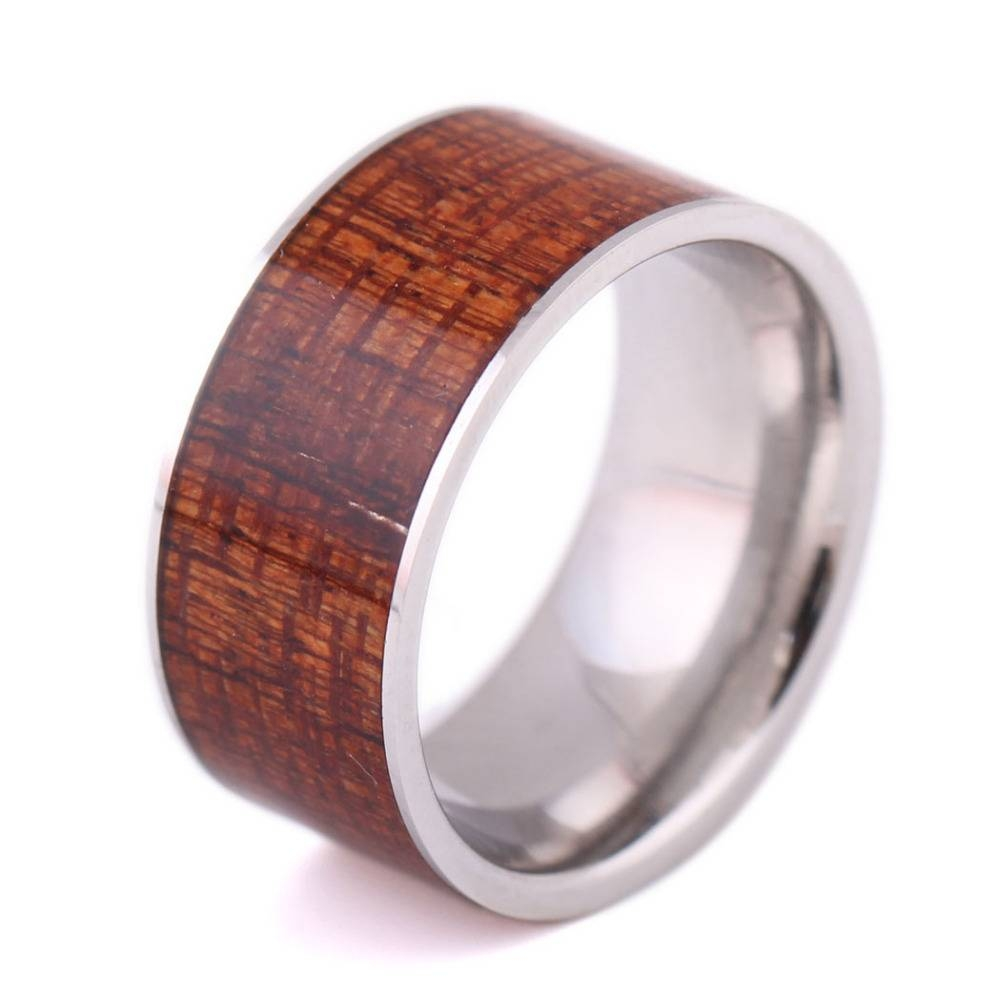 Popular 12Mm Wood Rings Buy Cheap 12Mm Wood Rings Lots From China With Regard To Men Wood Grain Wedding Bands (View 12 of 15)
