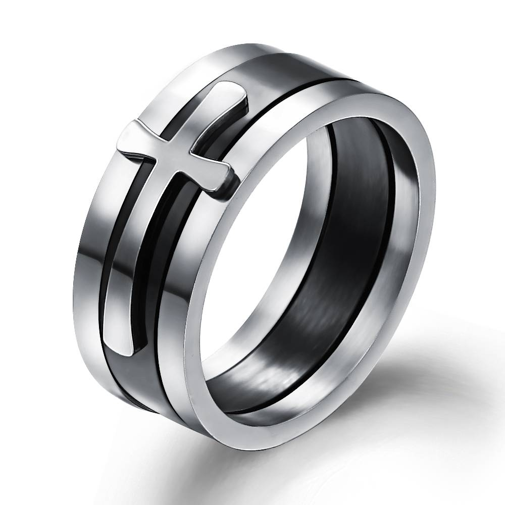 Popular 3 Crossing Wedding Bands Buy Cheap 3 Crossing Wedding Pertaining To Men's Wedding Bands With Crosses (View 13 of 15)