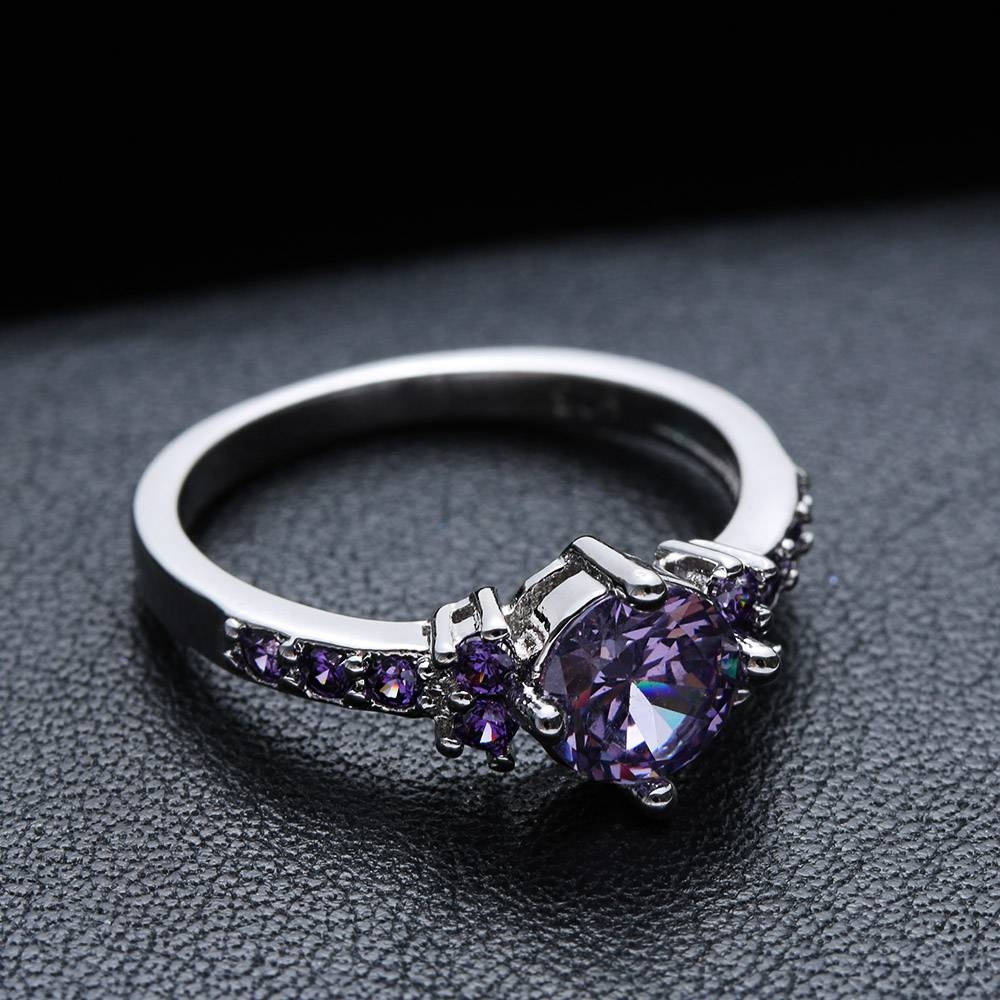 Popular Amethyst Wedding Bands Buy Cheap Amethyst Wedding Bands Throughout Purple Wedding Bands (Gallery 13 of 20)