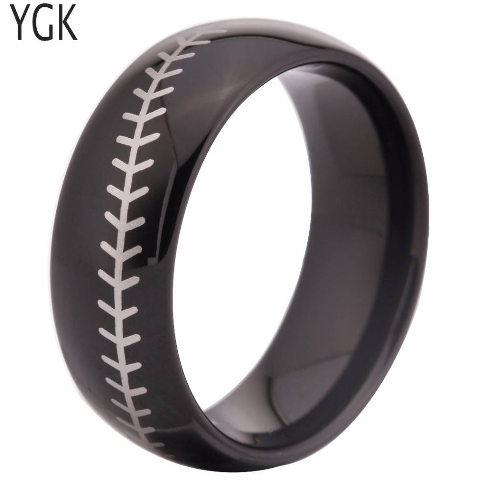 Popular Baseball Wedding Band Buy Cheap Baseball Wedding Band Lots Throughout Mens Baseball Wedding Bands (View 11 of 15)