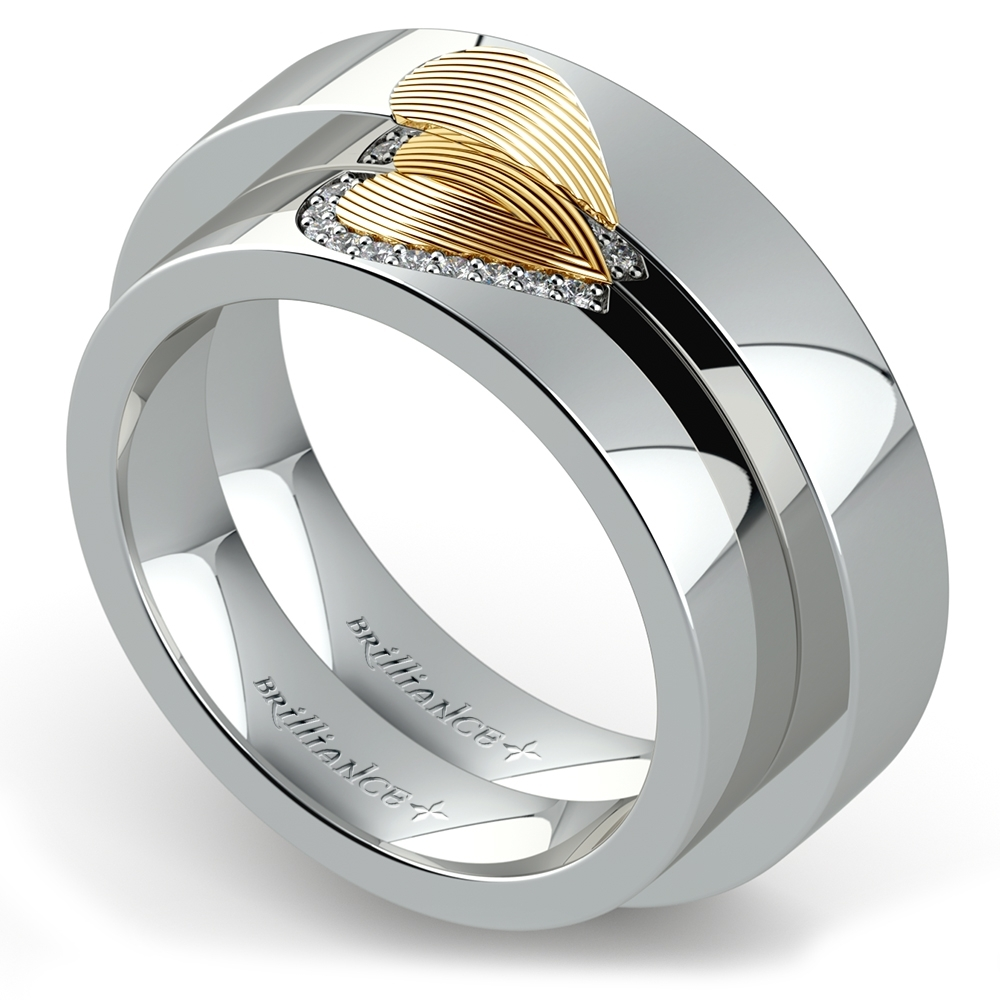 Popular Wedding Rings For Couples On Their Second Marriage Intended For Mens Engagement And Wedding Rings Sets (View 13 of 15)