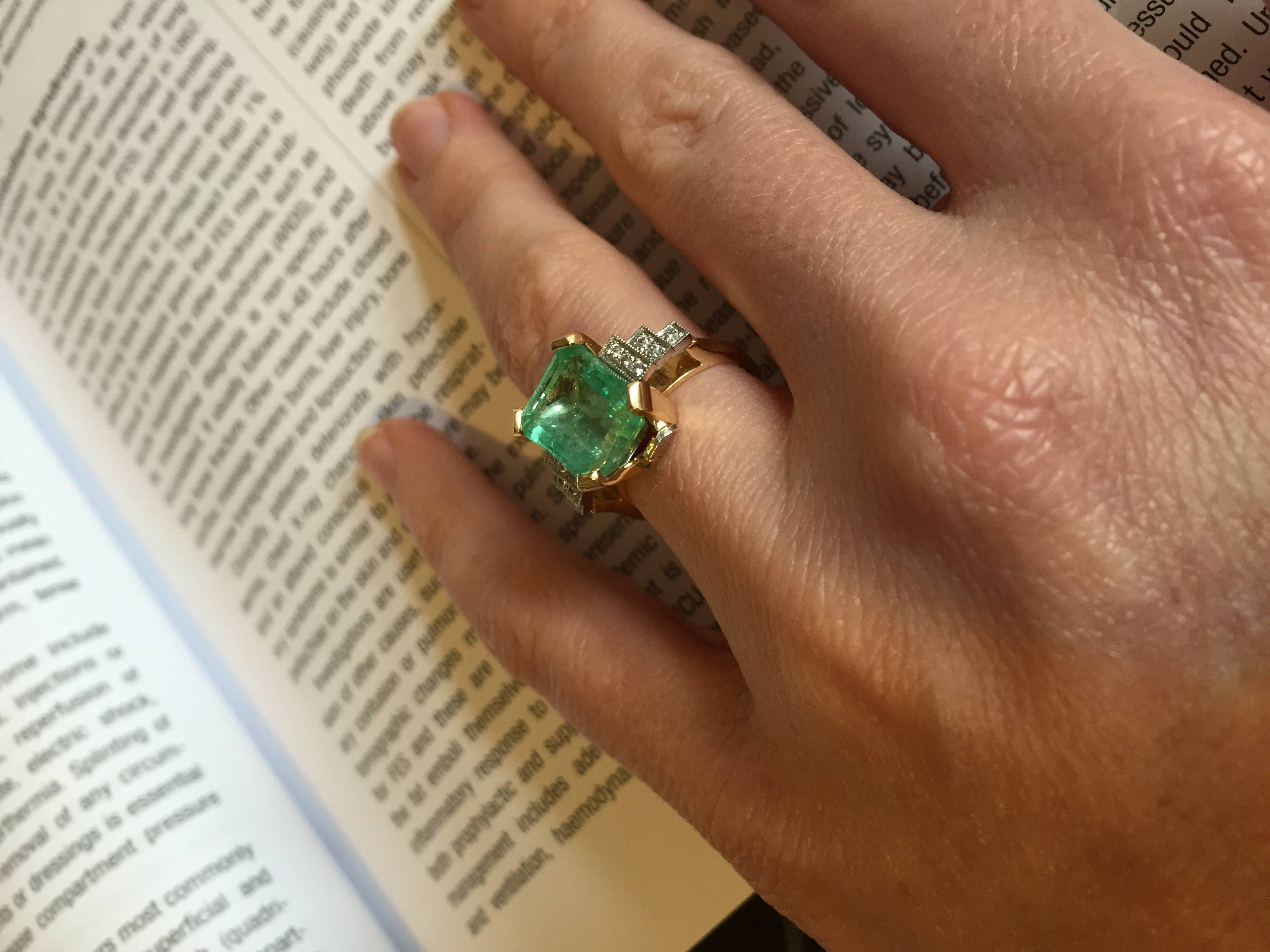 Post Your Emerald Rings! – Weddingbee In Weddingbee Engagement Rings (View 9 of 15)