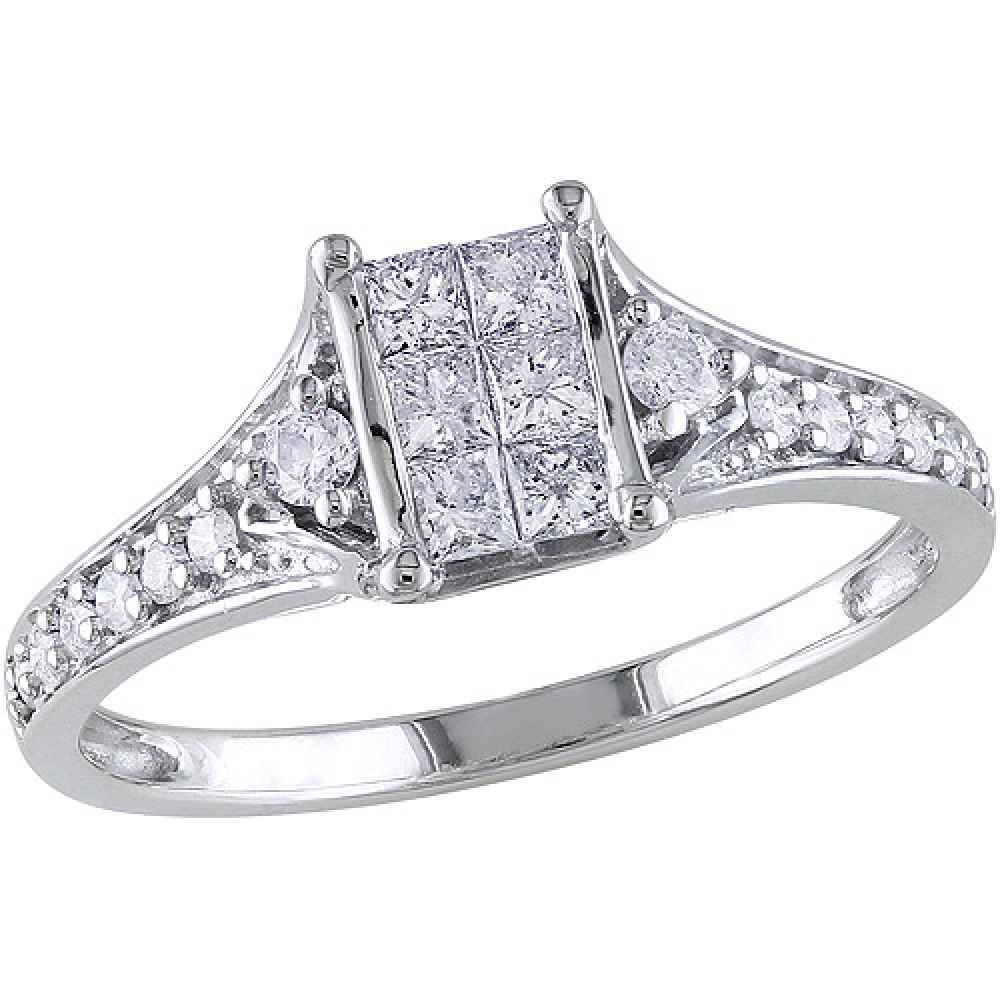 Princess Cut Diamond Rings Walmart | Best Images Collections Hd With Walmart Princess Cut Engagement Rings (View 15 of 15)