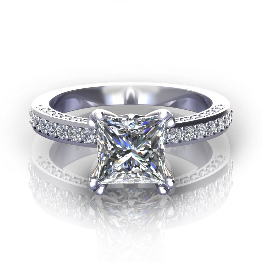 Princess Cut Engagement Rings Intended For Princess Engagement Rings (View 2 of 15)