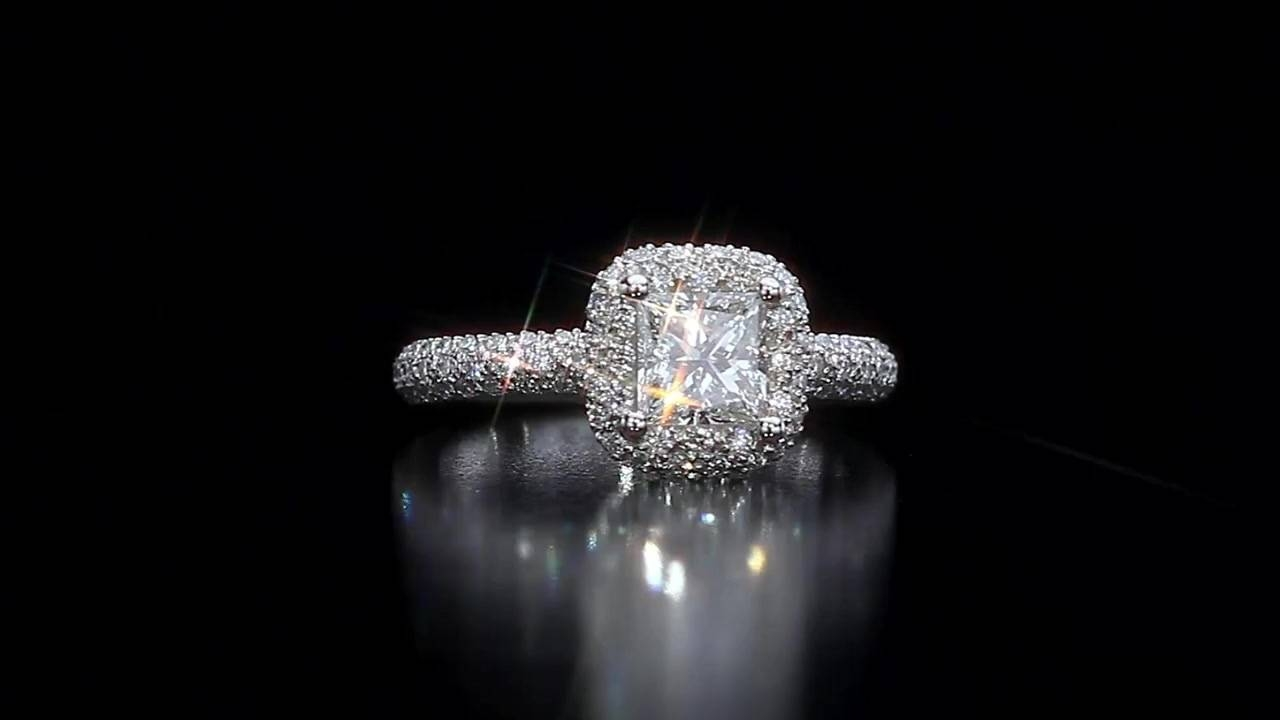 Princess Cut & Round Brilliant Diamond Ring ( (View 13 of 15)