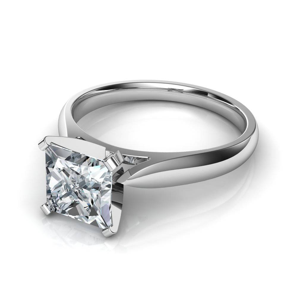 Princess Cut Solitaire Engagement Rings With Princess Engagement Rings (Gallery 12 of 15)