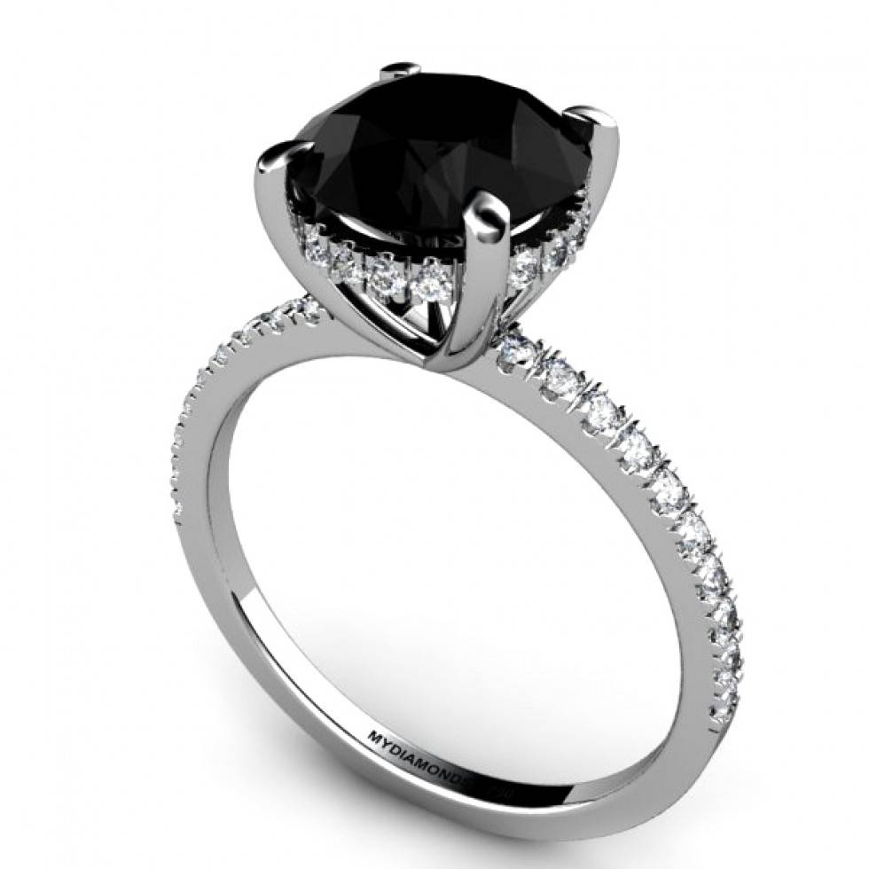 Prominent Black Diamond Engagement Rings For Her Tags : Engagement With Regard To Black Diamond Wedding Bands For Her (View 15 of 15)