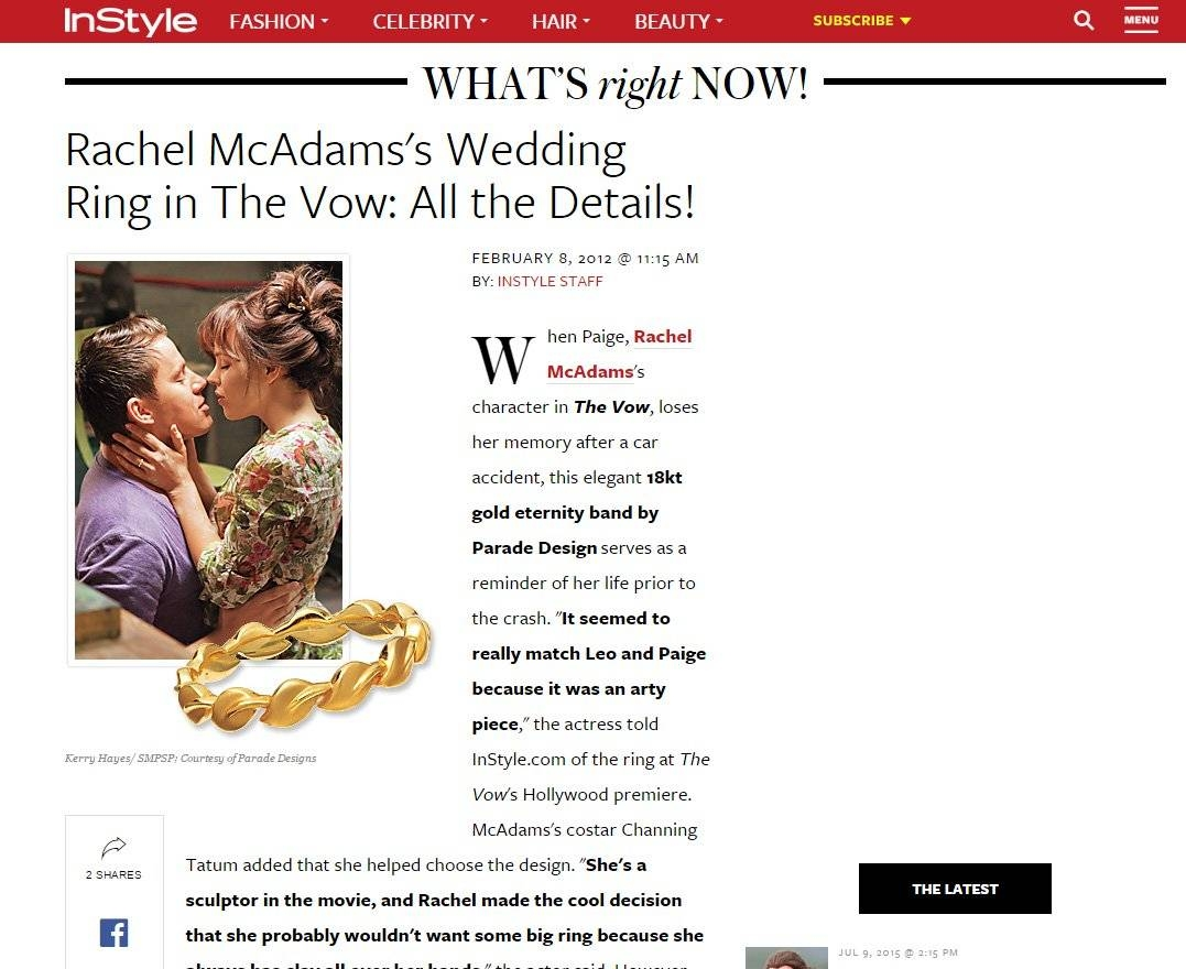Rachel Mcadams's Wedding Ring In The Vow Regarding The Vow Wedding Rings (View 4 of 15)