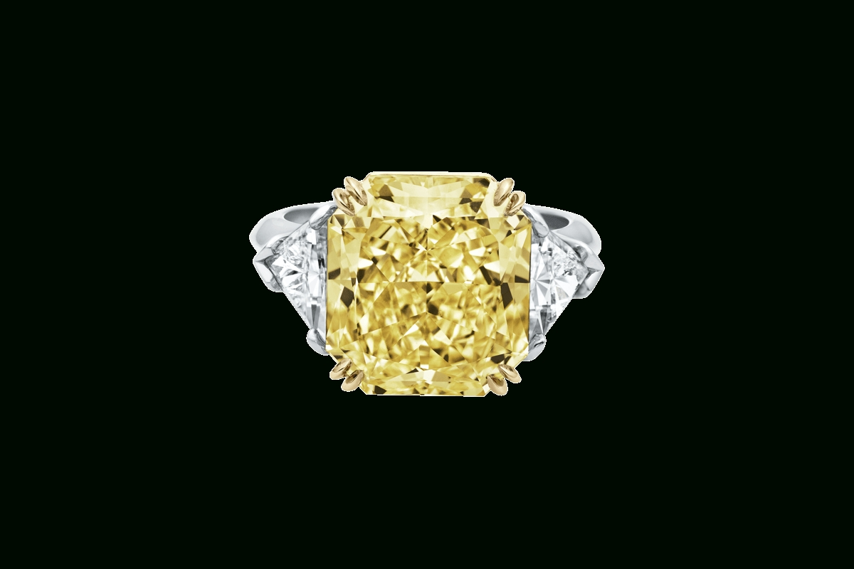 Radiant Cut Yellow Diamond Ring | Harry Winston For Harry Winston Belle Engagement Rings (View 13 of 15)