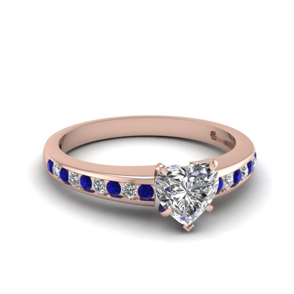 Ravishing Channel Set Engagement Rings | Fascinating Diamonds In Blue Line Engagement Rings (View 15 of 15)