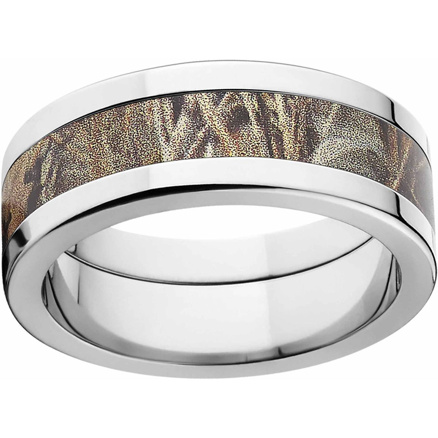 Realtree Max 4 Men's Camo 8Mm Stainless Steel Wedding Band Intended For Wedding Bands At Walmart (View 11 of 15)