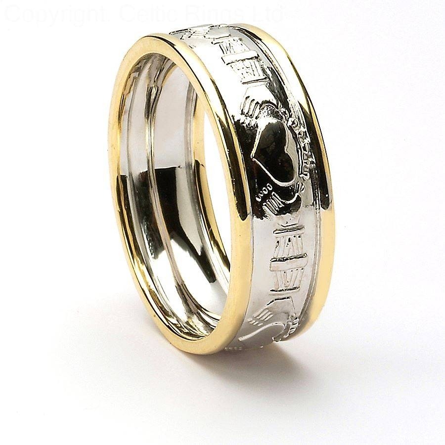 Ring Black Diamond Wedding Rings For Him Mud Tire Wedding Ring Regarding Mens Claddagh Wedding Rings (View 12 of 15)