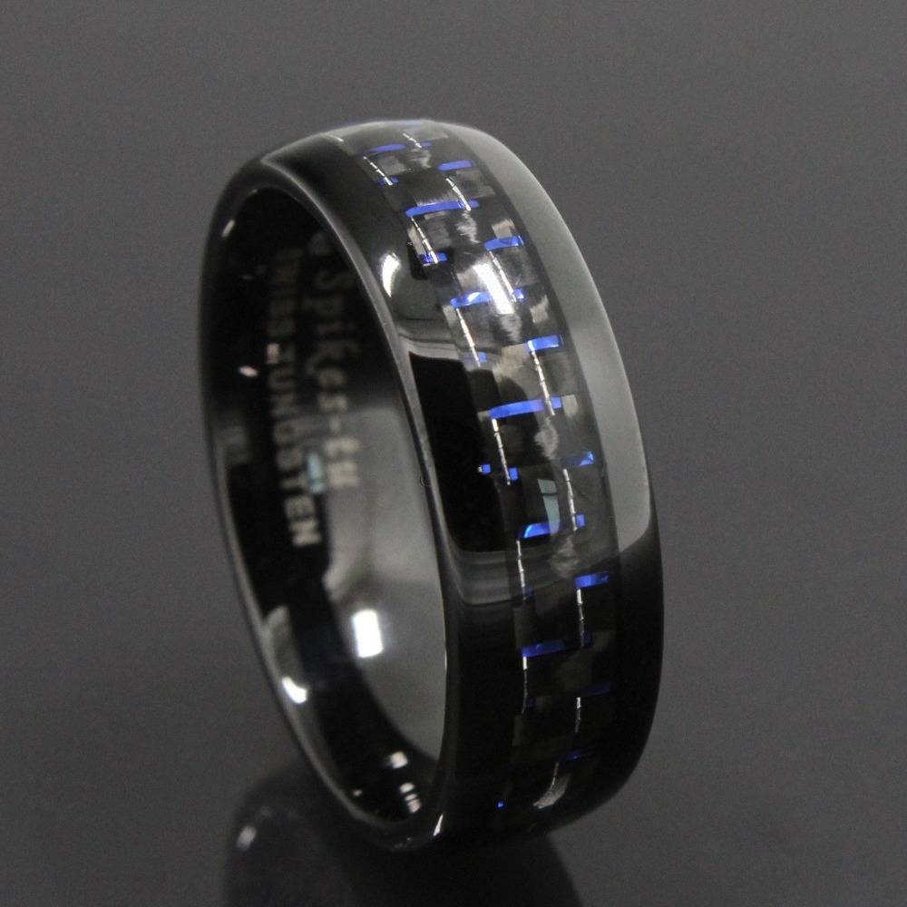 Ring Gold Picture – More Detailed Picture About Free Shipping With Men's Black And Blue Wedding Bands (View 12 of 15)