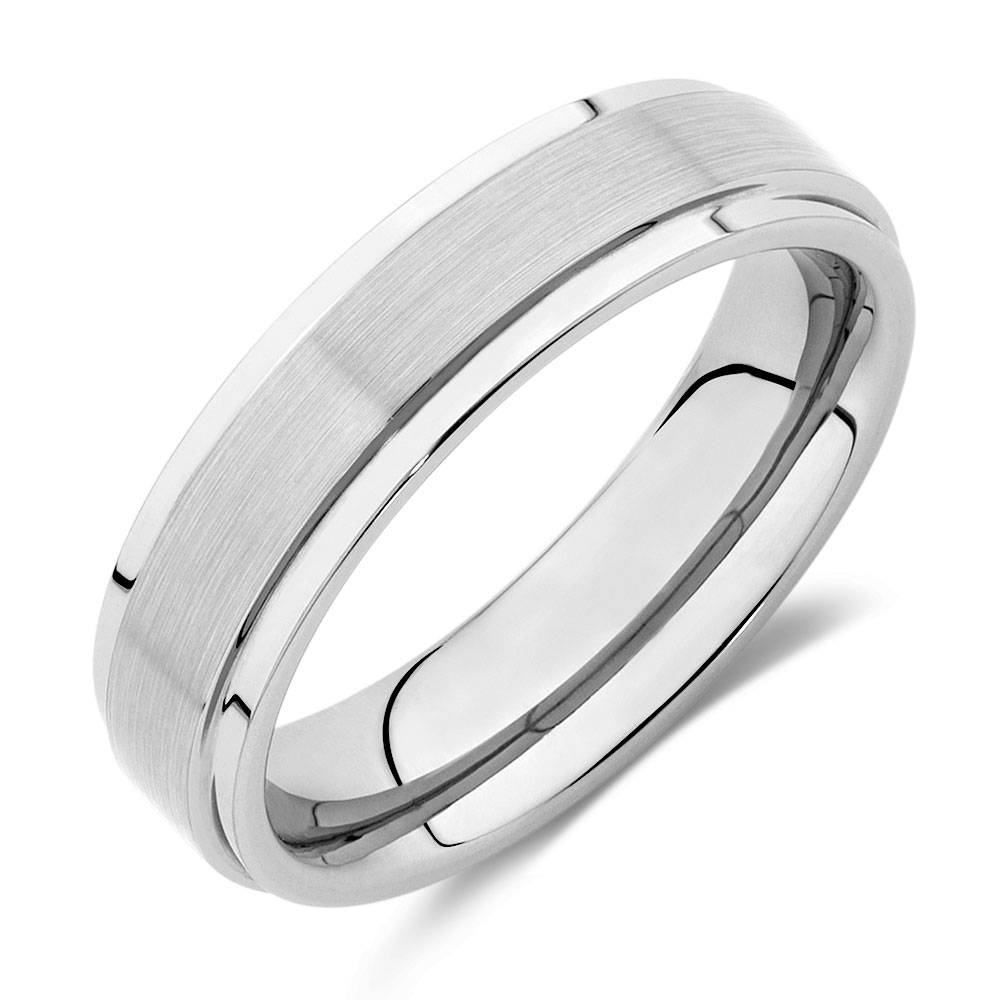 Ring In Grey Tungsten Pertaining To Michael Hill Mens Wedding Bands (View 4 of 15)