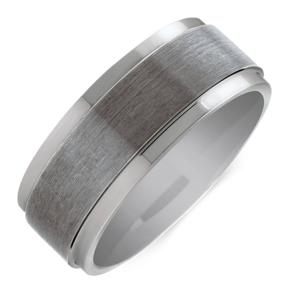 Ring In Grey Tungsten Regarding Michael Hill Mens Wedding Bands (View 8 of 15)