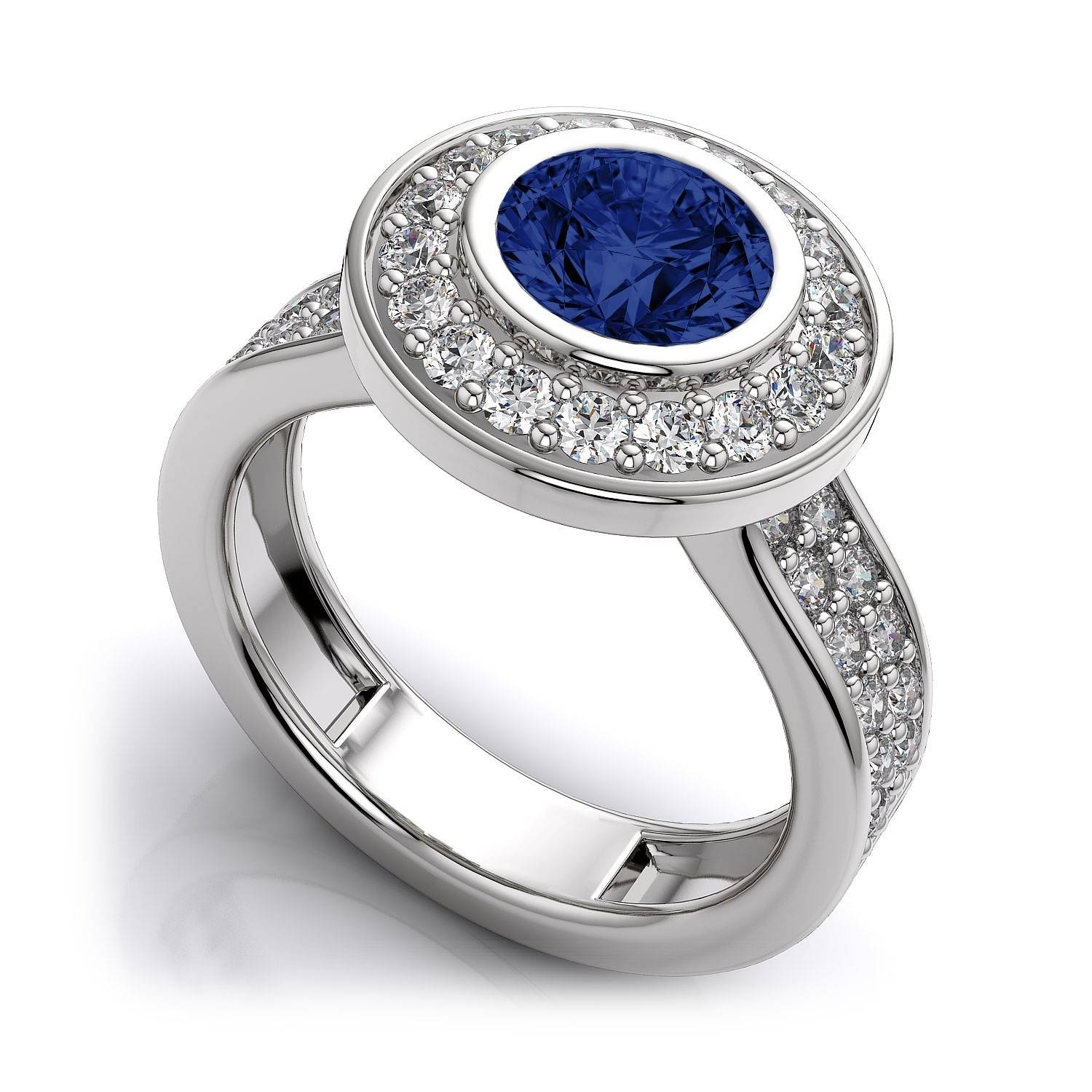 Ring Lab Created Diamond Wedding Ring Blue Sapphire Wedding Ring Regarding Special Design Wedding Rings (View 6 of 15)
