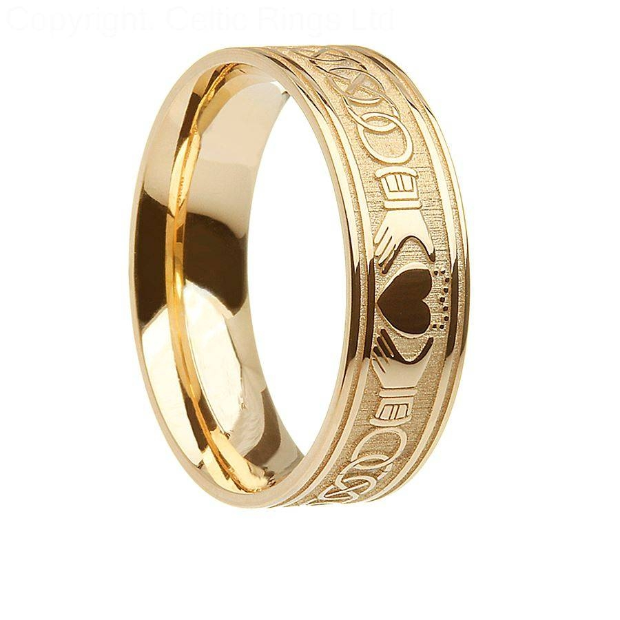 Tire Wedding Rings >> 15 Inspirations of Mens Claddagh Wedding Rings