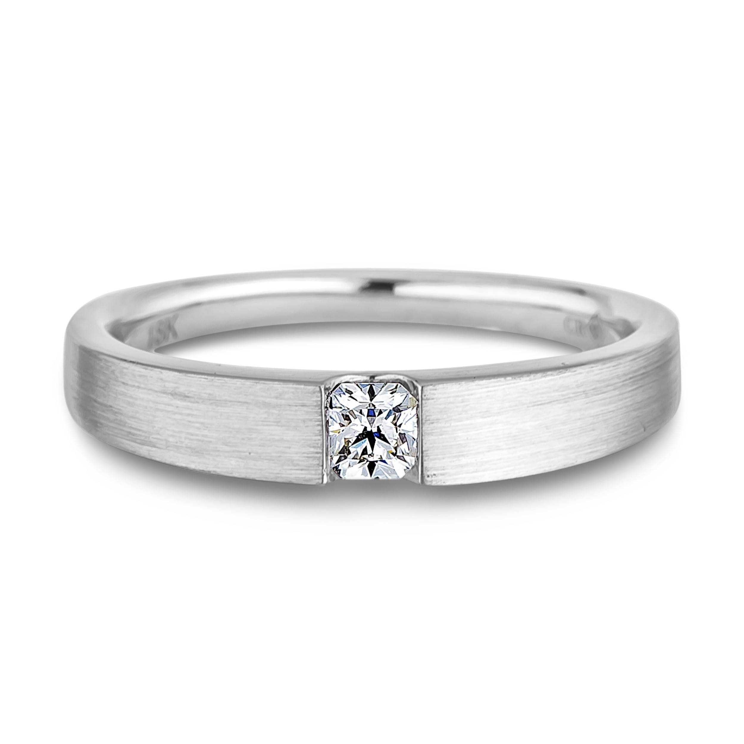 Ring : Modern Tension Setting Engagement Ring Floating Diamond Within Wedding Bands That Fits Around Engagement Ring (Gallery 12 of 15)
