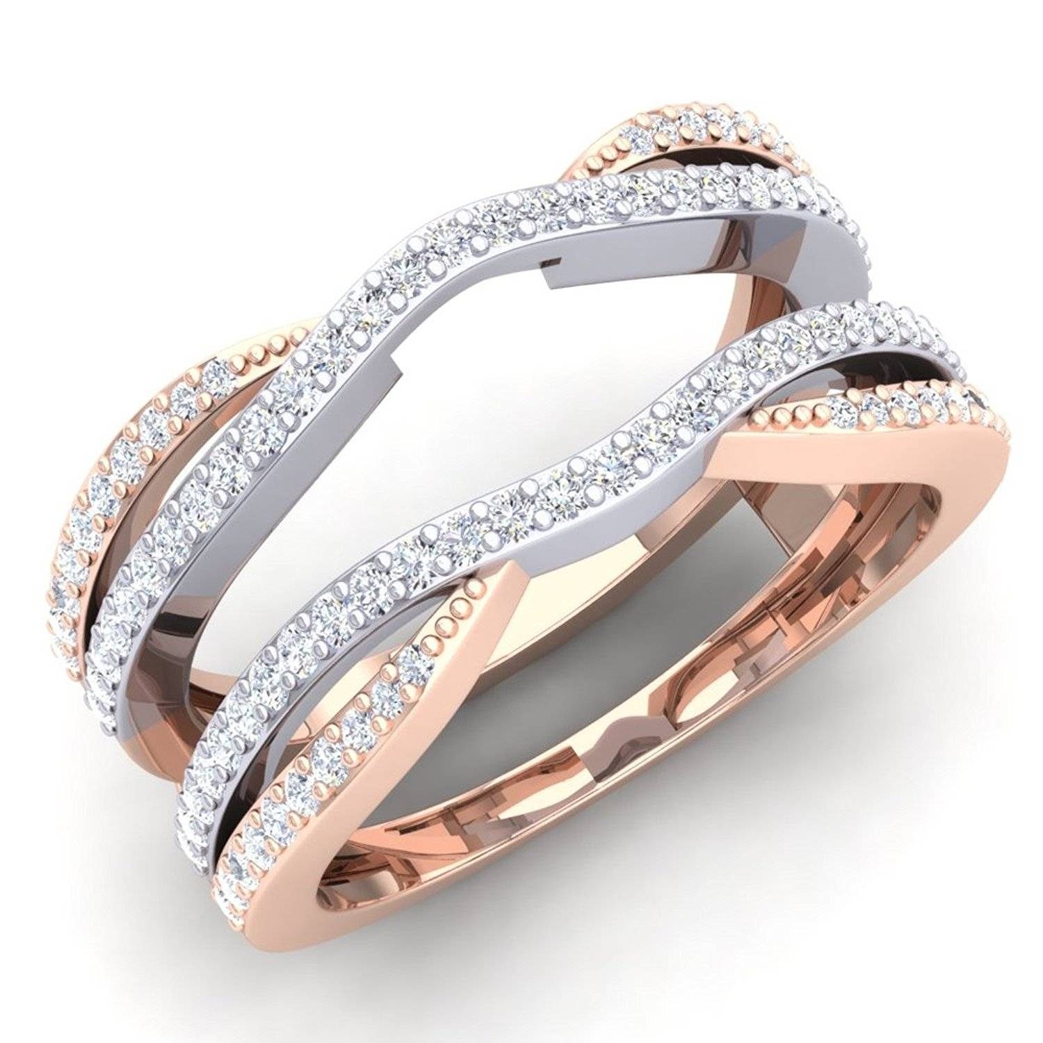 Ring Unique Wedding Rings Without Diamonds Morganite And Diamond Throughout Wedding Rings Without Diamonds (Gallery 14 of 15)