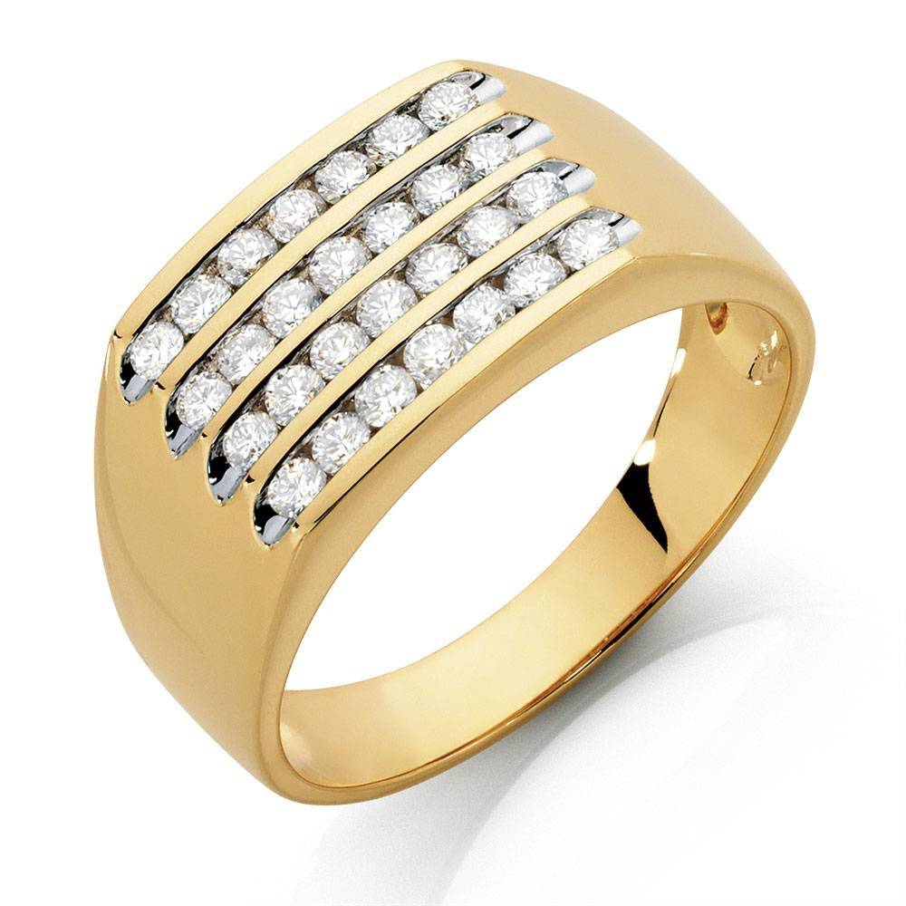 Ring With 1 Carat Tw Of Diamonds In 10Kt Yellow Gold Throughout Gold Male Engagement Rings (View 11 of 15)